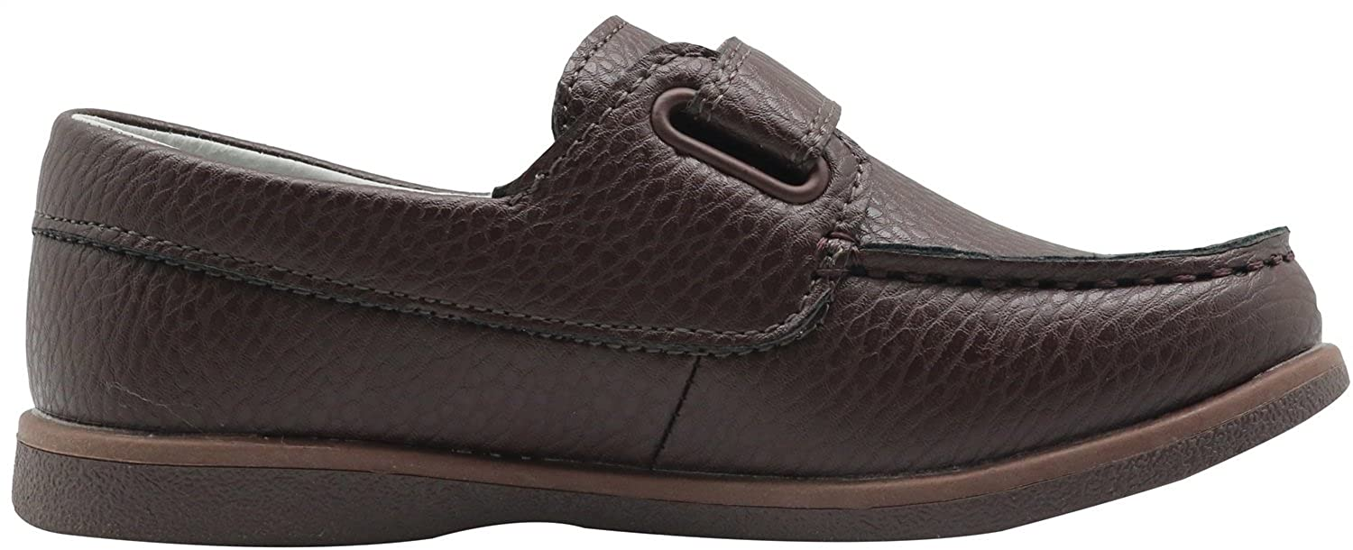Toddler//Little Kid//Big Kid Apakowa Kids Boys Loafers Casual Slip On Boat Shoes with Strap