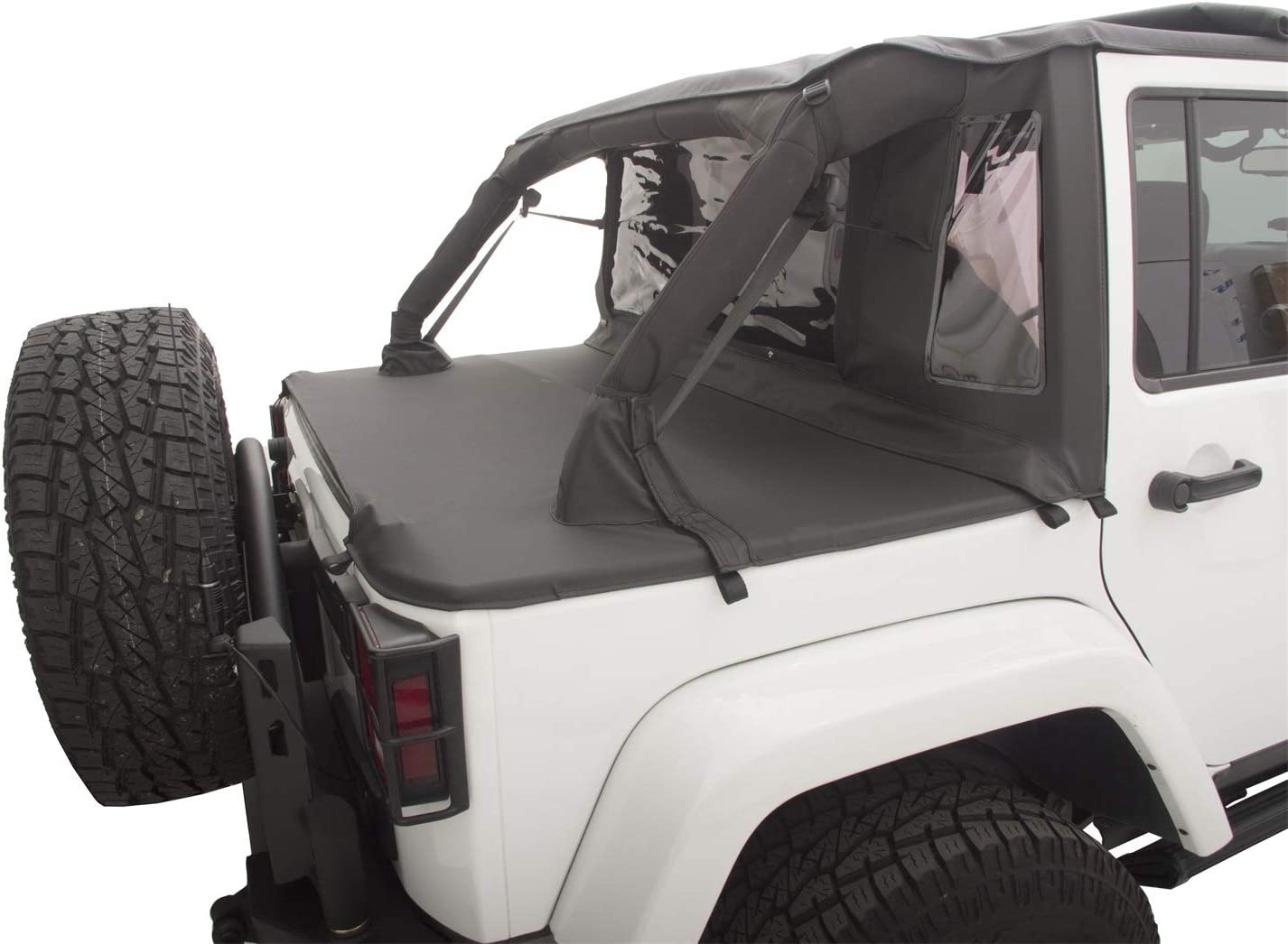 Jeep Jk Soft Top >> Rampage Products 990135 Black Trailview Soft Top With Tonneau Style Rear Cover For Jeep Jk Unlimited 4 Door 2007 2017
