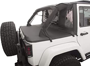 Jeep Soft Tops >> Rampage Products 990135 Black Trailview Soft Top With Tonneau Style Rear Cover For Jeep Jk Unlimited 4 Door 2007 2017