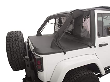 Jeep Wrangler 4 Door Soft Top >> Amazon Com Rampage Products 990135 Black Trailview Soft Top With