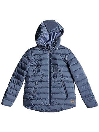 Amazon.com  Roxy China Blue Rock Peak Womens Water Resistant Jacket ... 0aaaeeb4477
