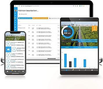Elektronisches Fahrtenbuch mit GPS Euro-Fahrtenbuch GPS 2020 premium 1 Jahr