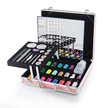 Moyou Nails Suitcase Set For Stamping Nail Art With 20 Nail