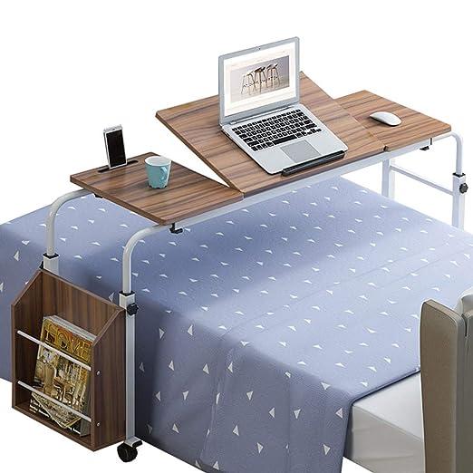 Mesa de cama portátil con ruedas, altura ajustable Banco de ...