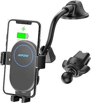Mpow 10W/7.5W/5W Auto-Clamping Qi Wireless Car Charger