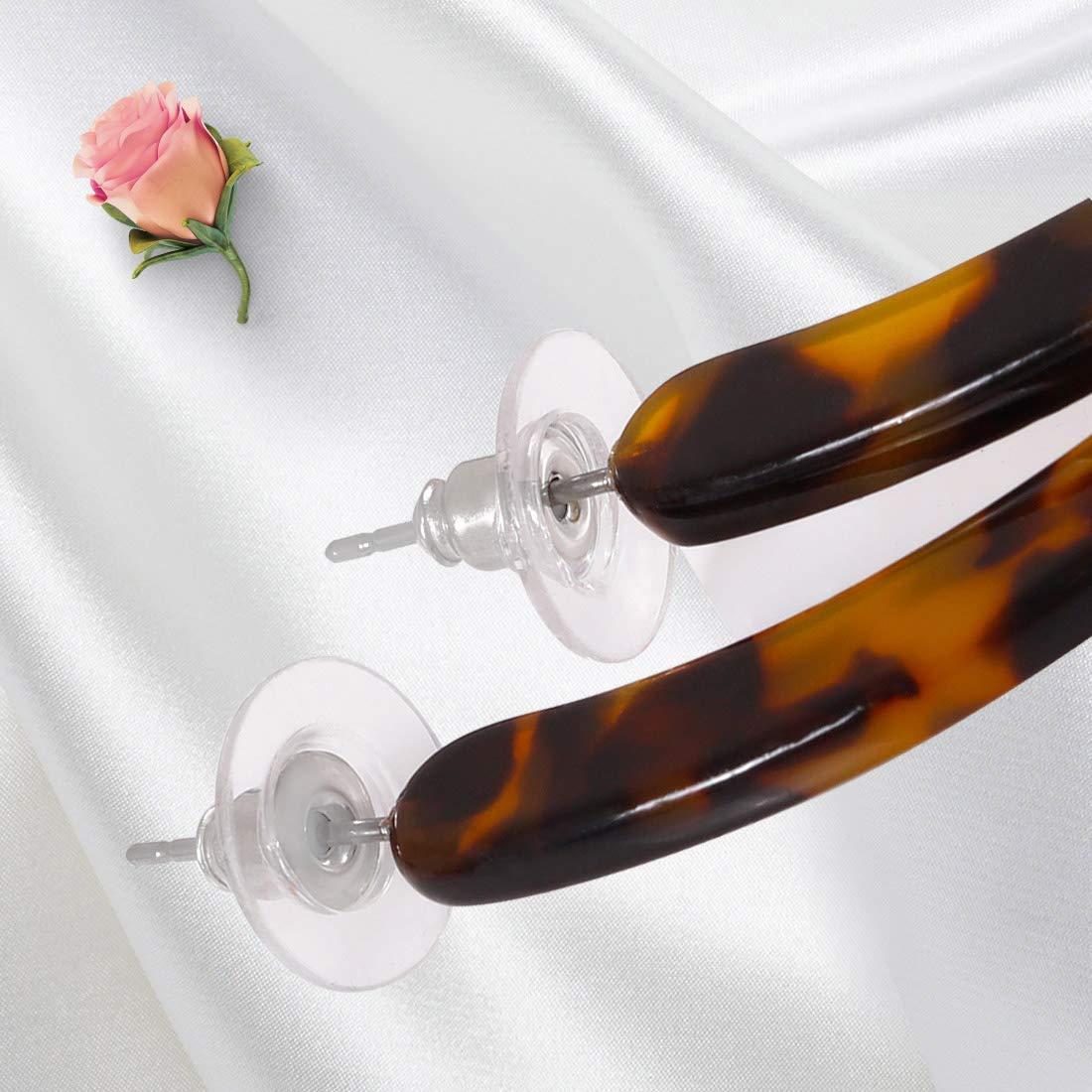 ALEXY Women/'s Mottled Hoop Earrings Bohemia Acrylic Resin Hoops Stud Earrings