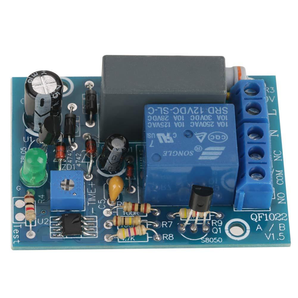 M/ódulo Temporizador Timer Module DC 12V Retardo del Temporizador Ajustable Apague el m/ódulo Interruptor de Tiempo del rel/é Interruptor de Tiempo 1~10Seconds