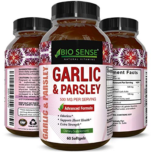 Odorless Garlic Pills for Weight Loss with Allicin – Contains Parsley Seed Extract & Chlorophyll -Powerful Antioxidants – Anti-Aging Formula – Increase Immunity with Vitamin C for Women and Men Review