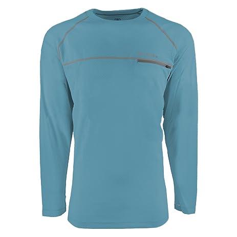 f0555d1795d Columbia Men's Cool Catch Tech Zero L/S Crewneck T-Shirt Bounty Blue XL