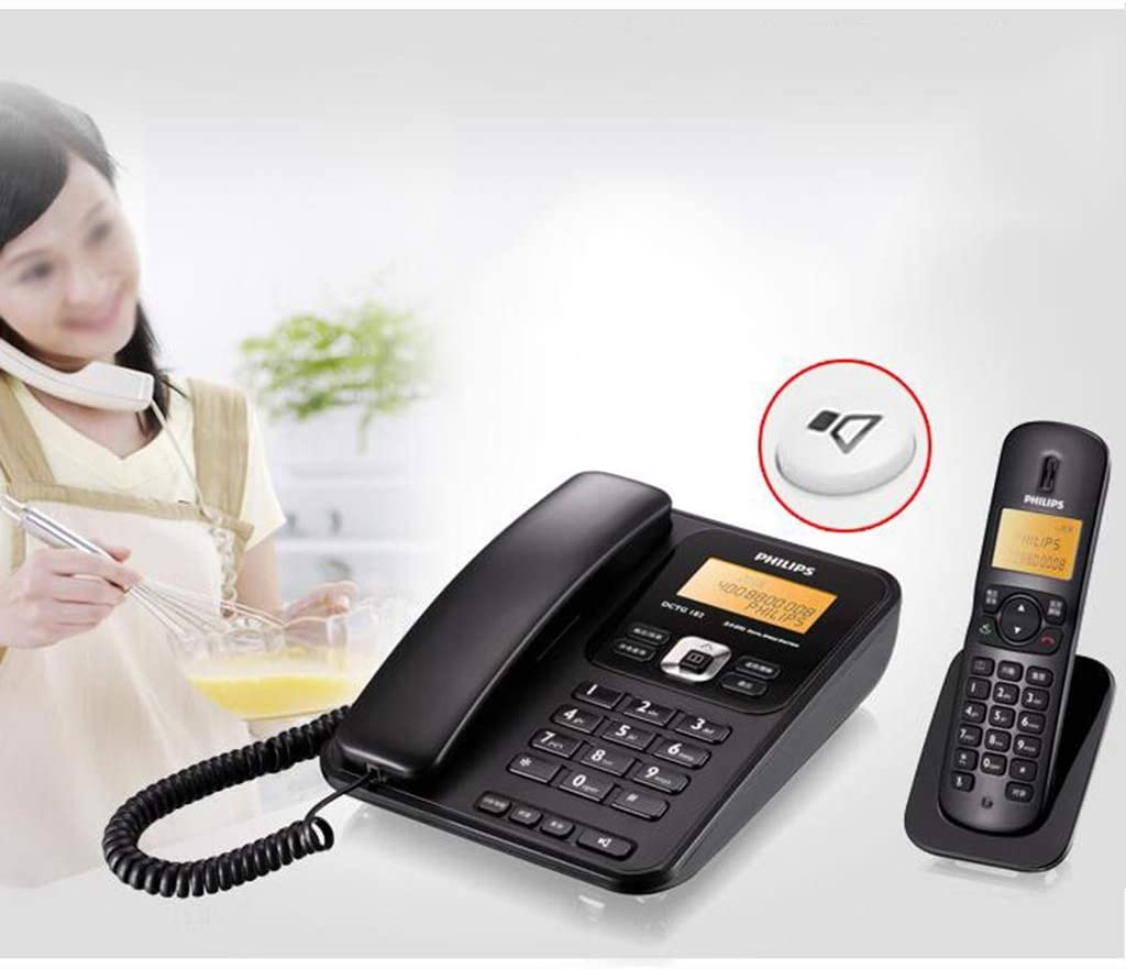 MSNDIAN Teléfono inalámbrico de Oficina en casa teléfono Fijo Unidad Base Artículos para el hogar teléfono (Color : Blanco): Amazon.es: Hogar
