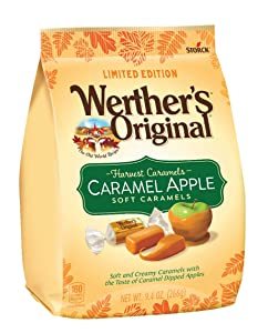 WERTHER'S ORIGINAL Harvest Caramels Caramel Apple Soft Caramels, 9.4 Ounce Bag | Individually Wrapped Candy | Great for Holiday Gifts for Mom, Gifts for Dad, Teacher Gifts, Thank You Gifts