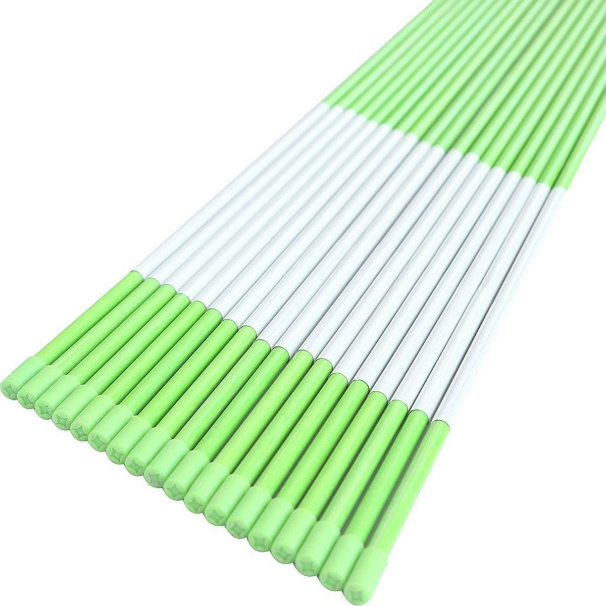 FiberMarker 48-Inch Reflective Driveway Markers Driveway Poles for Easy Visibility at Night 1/4 Inch Diameter Green, 50 Pack