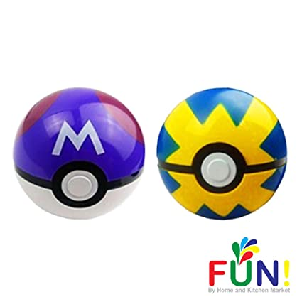 Pokemon Pokeball Toys That Open With Random Figure Inside 2 Pack Combo Purple Master