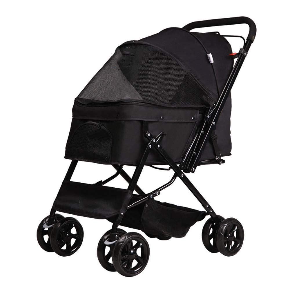 C Axiba Pet Stroller Four-wheeled doggy cart-Reversing trolley Pet Products