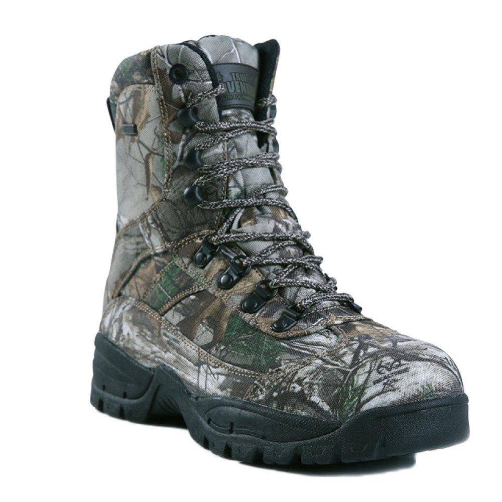 Nihiug Wanderschuhe Herren Wasserdicht Leicht High-Top Explorer Turnschuhe Outdoor-Camouflage Schuhe Camping Stiefel Rutschfest