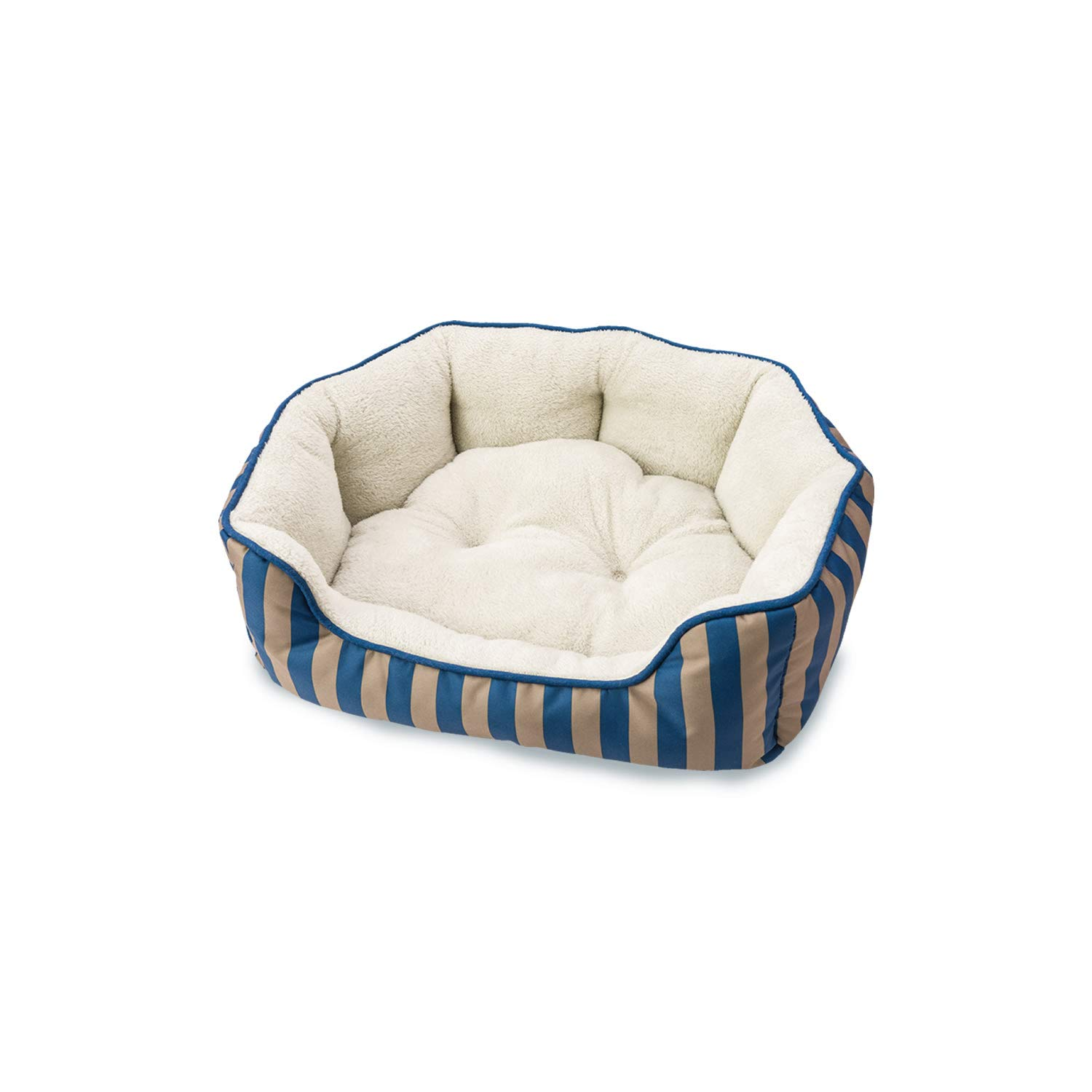 Ethical Pets 31004 Sleepzone Scallop Step in Dog Bed, 21 , bluee