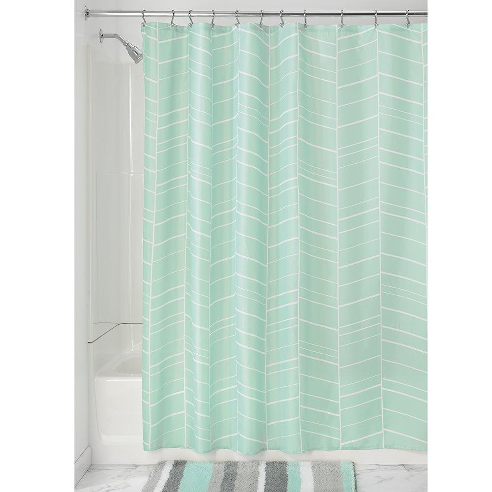 InterDesign Kylie Soft Fabric Shower Curtain 72 X Mint