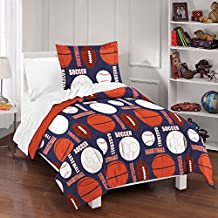 Dream Factory All Sports Comforter Set, Full/Queen, Navy