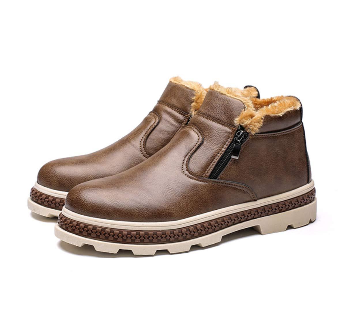 DANDANJIE Herrenschuhe Winter Warm Leder Schuhe Stiefel 2018 Casual Schneestiefel Turnschuhe