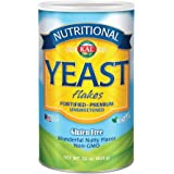 KAL Nutritional Yeast Flakes | Vitamin B12, Vegan, Non-GMO, Gluten Free | Unsweetened, Great Flavor, No Bitter Aftertaste | G
