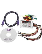 LuxtechPro Logic Analyzer LA1010 USB Logic Analyzer 100M Sample Rate 16 Channels Full Channel Adjustable Threshold PWM Output