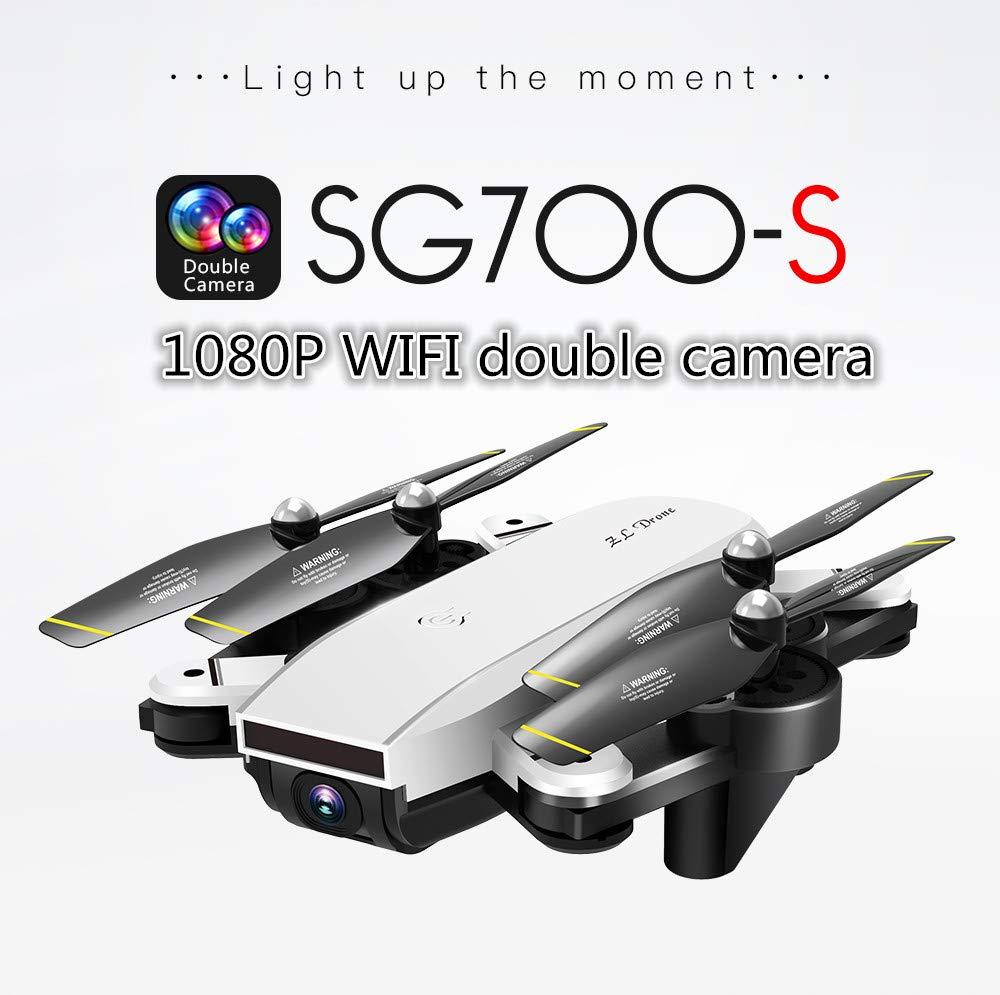 SG700-S RC Quadcopter mit Kamera, 1080P WiFi FPV Faltbarer Selfie Drone Weiß