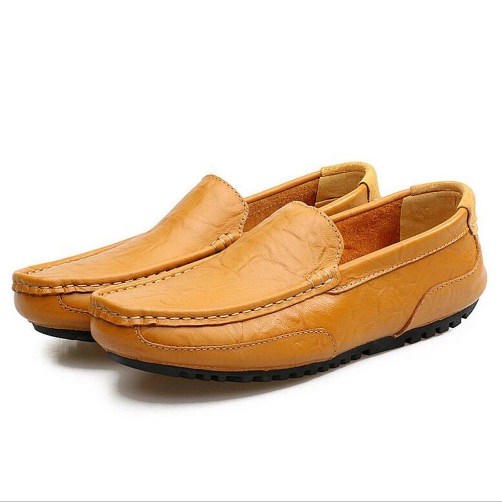 Paar Schuhe Unisex Leder Frühling Sommer Erbsen Schuhe Herbst Comfort Loafers & Slip-Ons Wanderschuhe Split Joint für Casual (Farbe   braun, Größe   38)