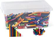 hand2mind Plastic Cuisenaire Rods Classroom Kit With Storage, Spark Kids' Interest In Math With Hands-on Learning, (Grades K-