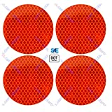 """3"""" Inch Round DOT-SAE Amber/Red High Visibility"""
