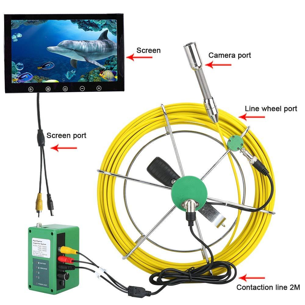 10インチ50メートル無線lanワイヤレス22ミリメートル工業用パイプ検査ビデオカメラシステムip68防水1000 tvlカメラでAPP撮影 - ビデオ録画