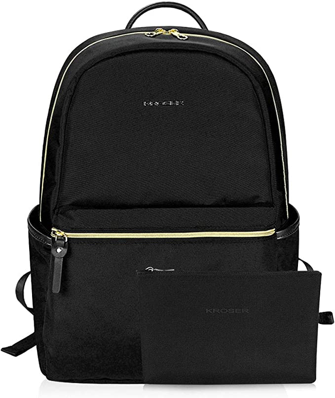 Amazon.com: KROSER Laptop Backpack 15.6 Inch Upgraded Fashion School Backpack Water-Repellent Cumpter Backpack Laptop Bag Nylon Casual Daypack with USB Charging Port for Travel/Business/College/Women/Men-Black: Computers & Accessories