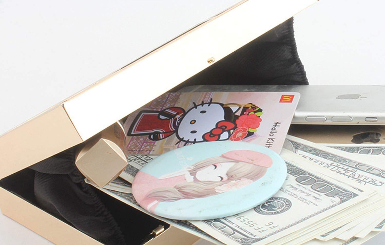 Metall gerahmt Damen Braut Kupplung,In ihrem zuhause Partei Flanell Flanell Flanell Evening Bag Geldbörsen Hand gemacht Handtasche Tasche-Golden 18x4x10cm(7x2x4inch) B07GLCLBZV Clutches Verrückter Preis, Birmingham 8470d9
