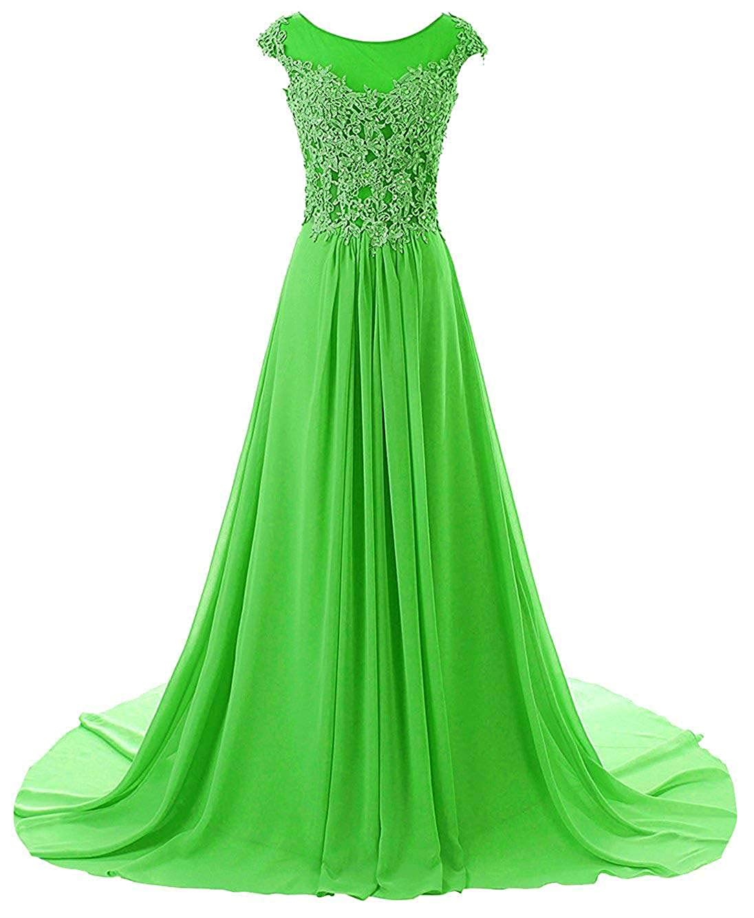 Emerald Wanshaqin Women's Aline Lace Appliques Evening Party Cocktail Dresses Bridesmaid Gowns Prom Formal Dresses for Events Party