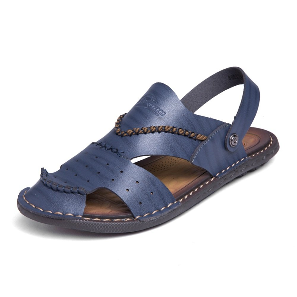 Sunny&Baby Sandalias Planas Slip de Hombre en los Zapatos de Moda Antideslizante (Color : Azul, Tamaño : 46 EU) Azul