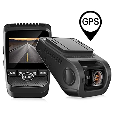 Pruveeo 112GW FHD 1080P Dash Cam, Built-in GPS, Dash Camera for Cars with Sony Sensor 170-degree Wide Angle 2.4-inch LCD: Car Electronics