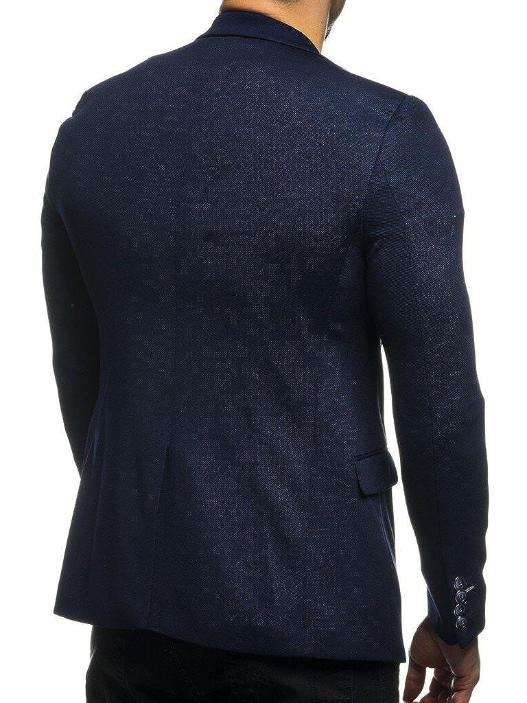 LEIF NELSON Herren Sakko Blazer sportlich Slim Fit Modern Schwarz Blau  Anthraztit  Amazon.de  Bekleidung 6145312b71