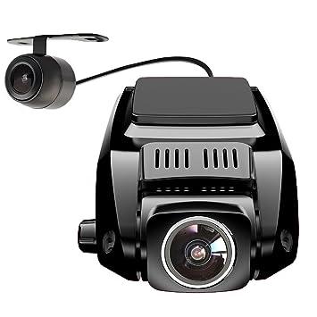 pruveeo V7 Dual Dash Cam con Cámara Trasera, delantera y trasera de 170 + 90