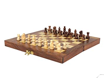 d28d7ae8886 Buy ITOS365 Folding Chess Board Set Wooden Game Handmade