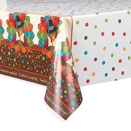 Charmant Cute Turkey Thanksgiving Plastic Tablecloth, 84u0026quot; ...