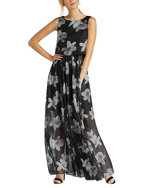 f87b6d239e54 APART Fashion Damen Kleid 26922, Mehrfarbig (Black-Champagner), 34 ...