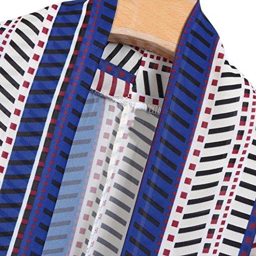 Floral Gland Dentelle Chic Bohême Court Automne Trench Kimono Imprimé Bleu Cher Châle Oversized Femme Rétro Mode Casual Longra Pas 2017 Élégant Outwear Chemisier Rayé Manteau Cardigan wqZwYI