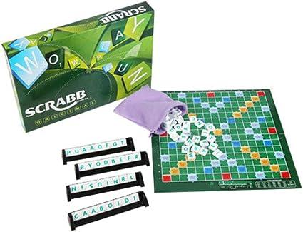 Morelyfish Niños Adultos educativos Palabras deletreo inglés Cartas clásico Juego de Mesa Scrabble plástico ABS Juguetes: Amazon.es: Hogar