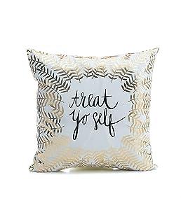 Luxsea Gold Throw Pillow Covers Pillow Case Sofa Waist Throw Cushion Cover Home Decor Outdoor