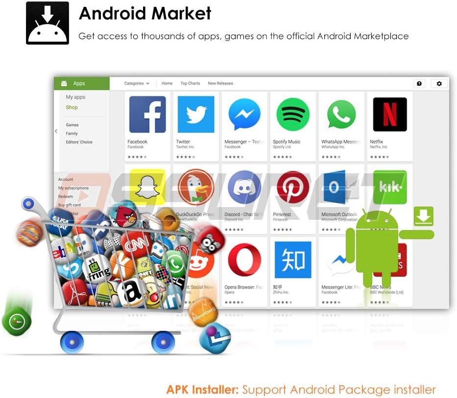 Universal Android 10 Radio de Coche 7 Pulgadas 2 GB RAM 16 GB ROM Radio de Coche Navegador GPS Soporte Bluetooth 4.0 Radio RCA Control del Volante USB WiFi 4G Micr/ófono Externo