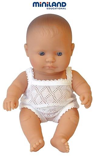 705c0da4b01 Amazon.es  Miniland - Muñeco bebé europeo niña