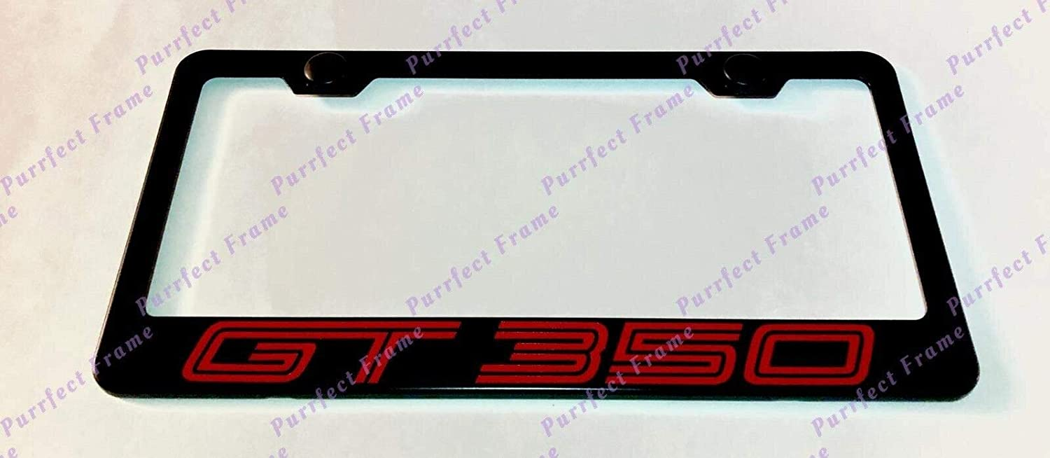 TRD Sport Tundra 3D Black Stainless Steel License Plate Frame Rust Free W Caps