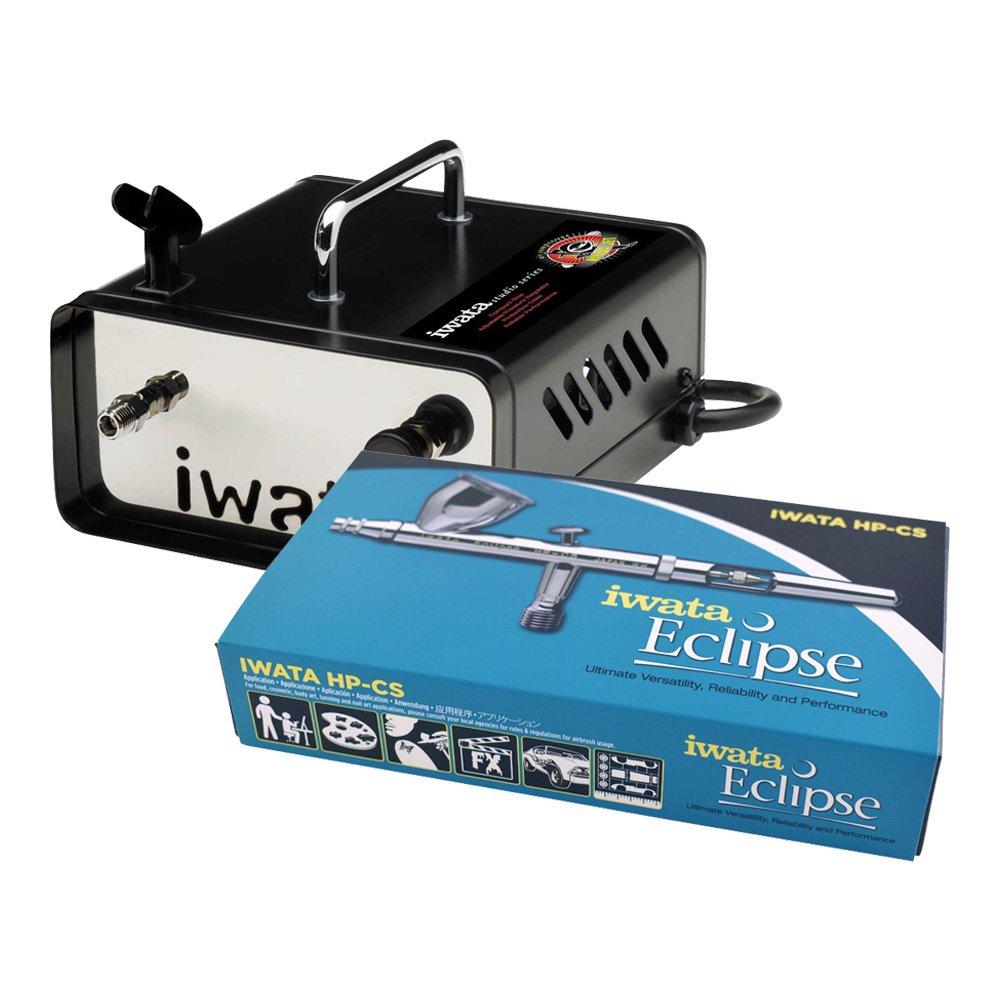 Iwata-Medea HP-CS .35mm Eclipse Airbrush W/ IS35 Ninja Jet Compressor