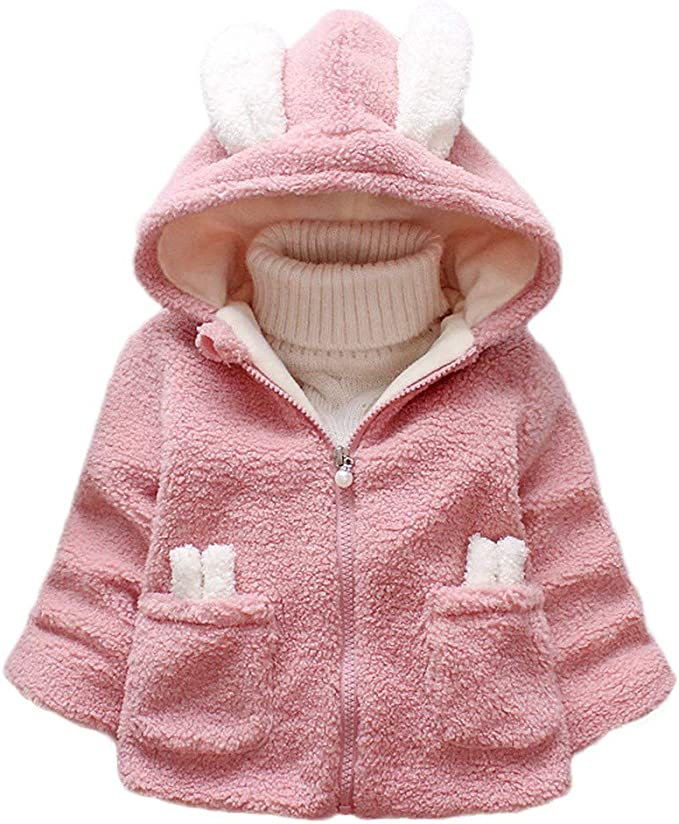 Lurryly❤Unisex Baby Thick Warm Hooded Cloak Jacket Jumpsuit Winter Snowsuit Coat Romper 1-5T