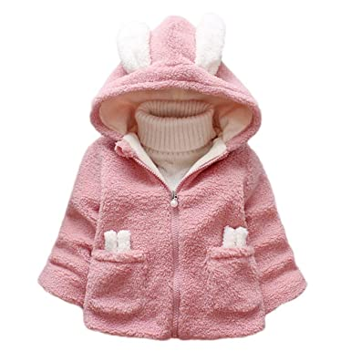 dc4223be9641 Zerototens Girl Plush Coat for 1-3 Years Old Kids