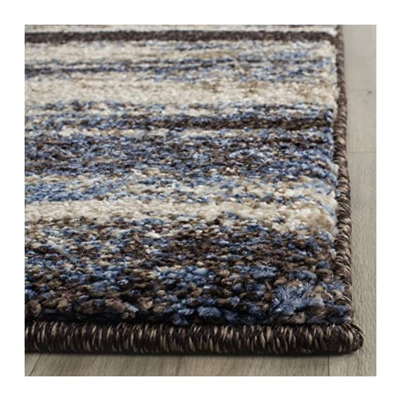 """Safavieh Retro Collection RET2138-1165 Modern Abstract Cream and Blue Runner (2'3"""" x 7') - Abstract design adds an eclectic and artistic flair Plush polypropylene fibers are virtually non-shedding Power-loomed construction ensures resilience in high-traffic areas - runner-rugs, entryway-furniture-decor, entryway-laundry-room - 61N 20CZ95L. SS570  -"""